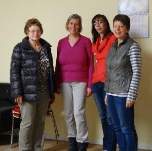 v.l.n.r.: Jutta Albrecht, Claudia Goldhahn, Anne-Christin Gehmilch, Katrin Kempe