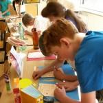 Kinderlernstraße in einer 4. Klasse